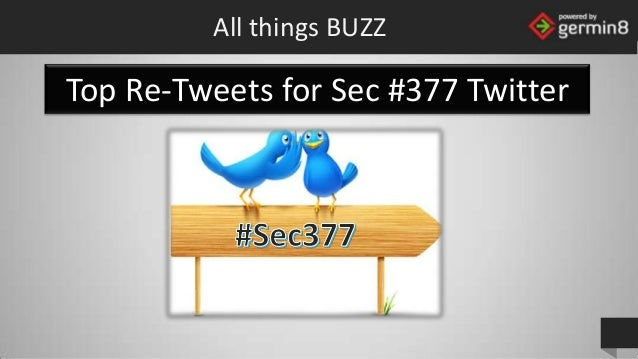 All things BUZZ  Top Re-Tweets for Sec #377 Twitter  powered by