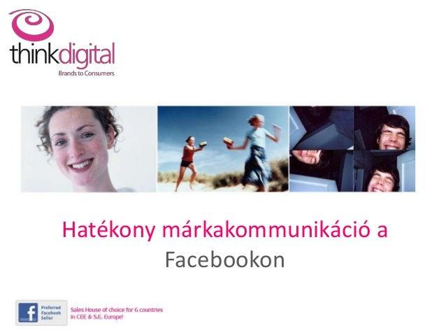 Hatékony márkakommunikáció a  Facebookon