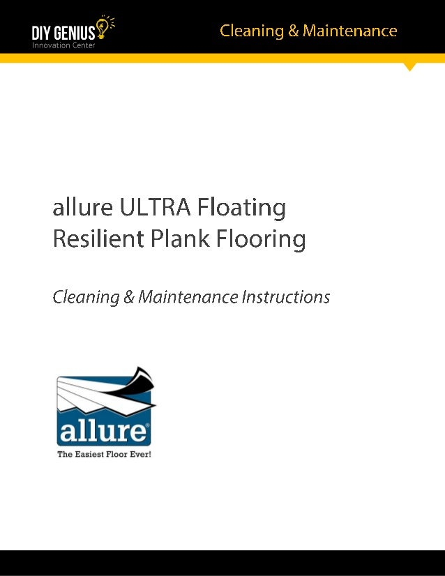 Official Allure Ultra Flooring Cleaning And Maintenance