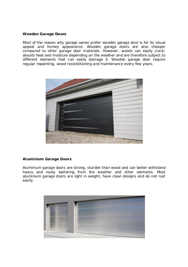 Garage doors types sc 1 st arrowhead garage doors for Garage door materials