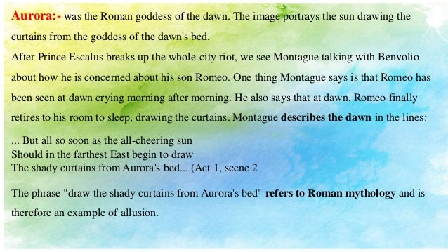 Allusions In Romeo Juliet