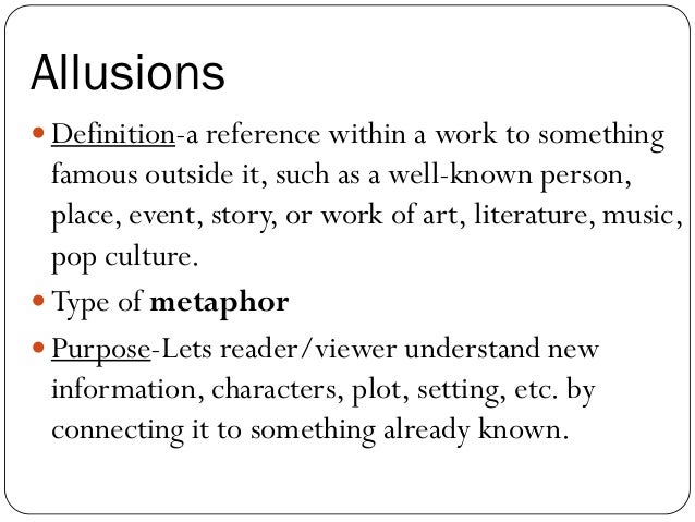 types of allusions