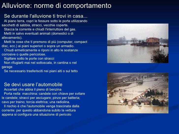 Alluvioni for Piani domestici transitori