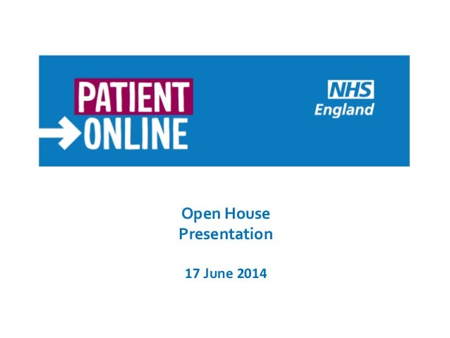 Open House Presentation 17 June 2014