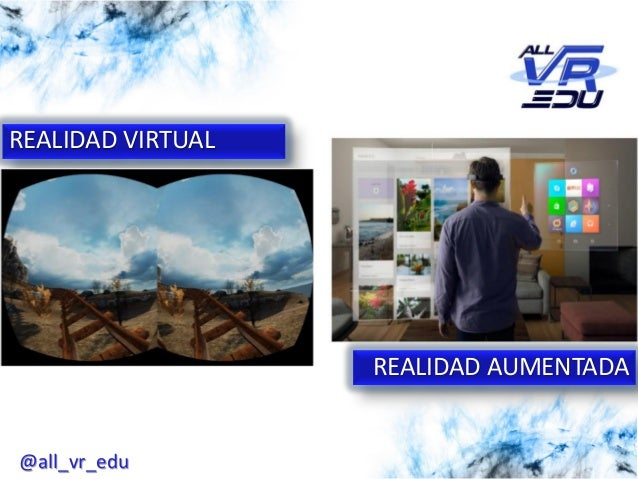 5/12/201526/03/15 REALIDAD VIRTUAL REALIDAD AUMENTADA @all_vr_edu