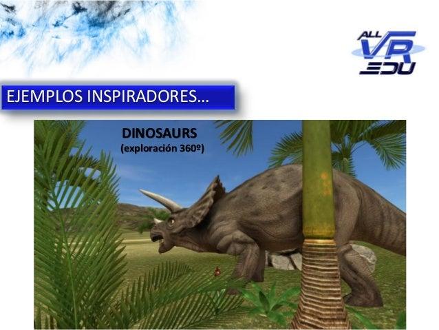 App: Cicle de l'Aigua #VR EJEMPLOS INSPIRADORES… DINOSAURS (exploración 360º)