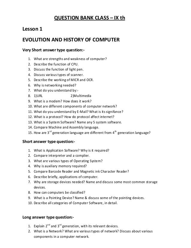 computer hardware question paper with answer pdf
