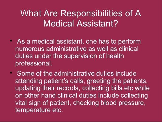 medical assistant administrative duties