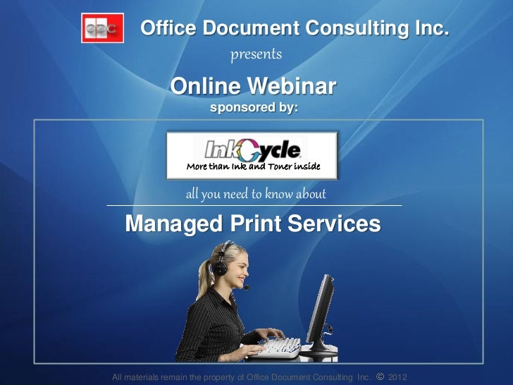 Office Document Consulting Inc.                presents               Online Webinar                         sponsored by:...