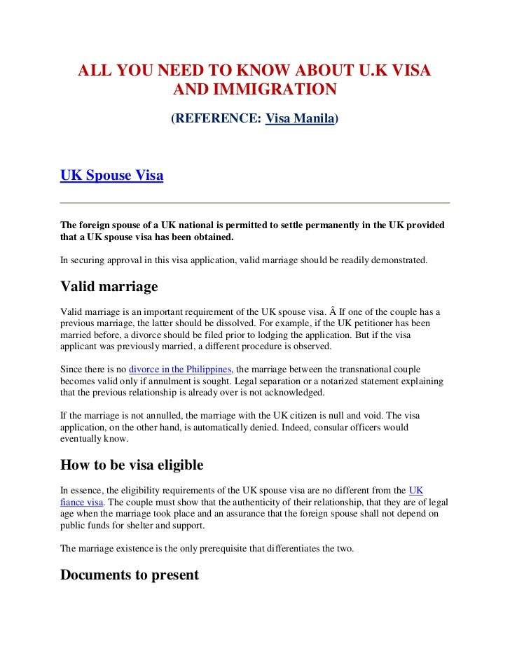 All You Need To Know About Uk Visa And Immigration