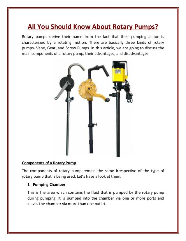 screw pump disadvantages
