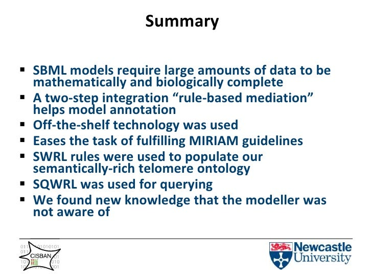 Data can end up in SBML format via MFO [2]</li></li></ul><li>How are the data sources integrated?<br />XML<br />OWL<br />U...