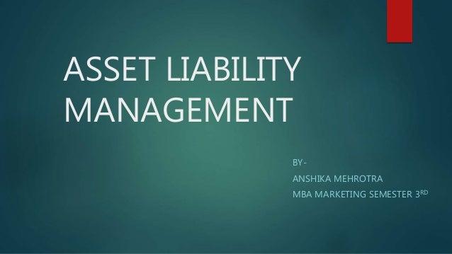ASSET LIABILITY MANAGEMENT BY- ANSHIKA MEHROTRA MBA MARKETING SEMESTER 3RD