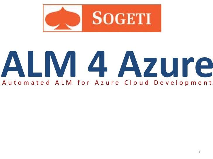 ALM 4 AzureAutomated ALM for Azure Cloud Development                                      1