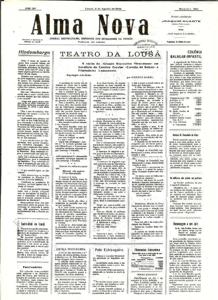 ALMA NOVA – Lousã – 04.08.1934