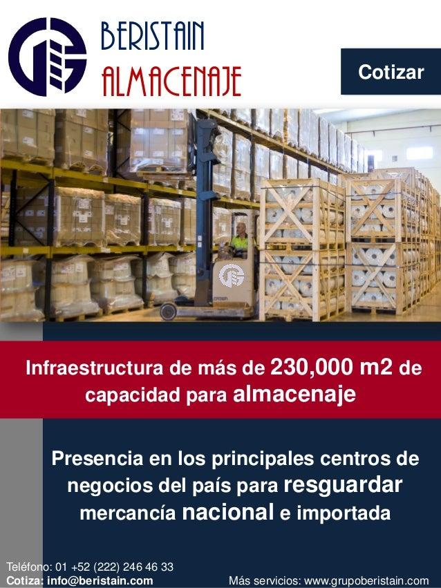 Cotizar beristain almacenaje NOVEDAD EN EL AIRE Presencia en los principales centros de negocios del país para resguardar ...