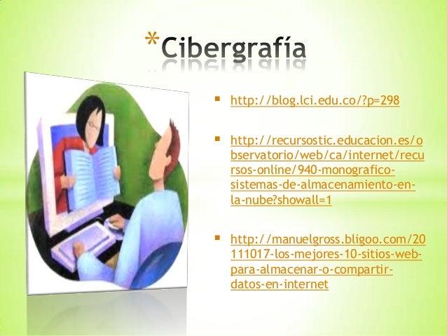 Almacenamiento de la información en la web