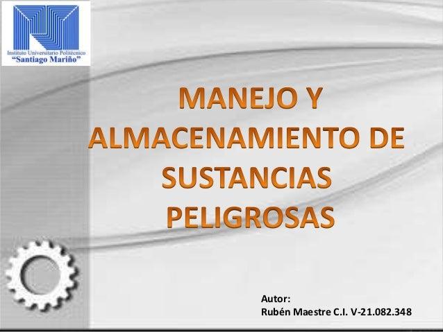 Autor: Rubén Maestre C.I. V-21.082.348