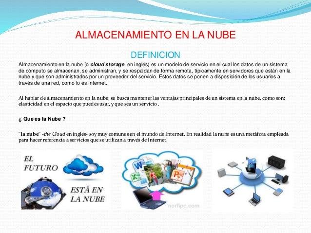 Presentacion Almacenamiento En La Nube Grupo 1