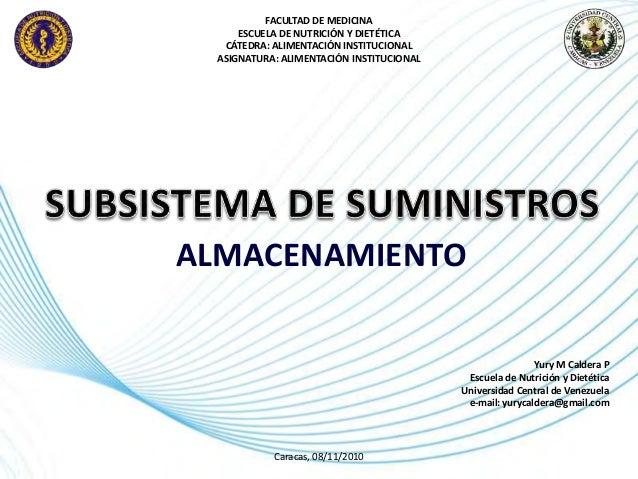 Page 1 FACULTAD DE MEDICINA ESCUELA DE NUTRICIÓN Y DIETÉTICA CÁTEDRA: ALIMENTACIÓN INSTITUCIONAL ASIGNATURA: ALIMENTACIÓN ...