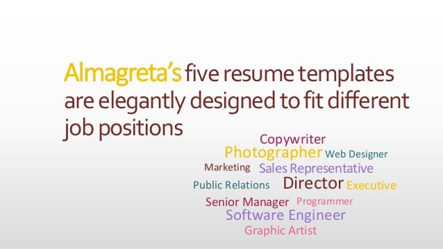resume templates can be your career u0026 39 s springboard