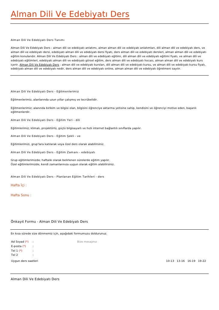 Alman Dili Ve Edebiyatı DersAlman Dili Ve Edebiyatı Ders TanımıAlman Dili Ve Edebiyatı Ders : alman dili ve edebiyatı anla...