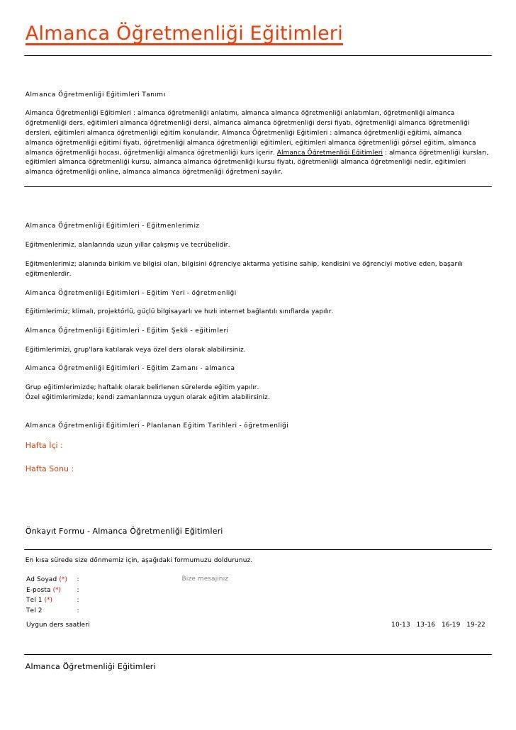 Almanca Öğretmenliği EğitimleriAlmanca Öğretmenliği Eğitimleri TanımıAlmanca Öğretmenliği Eğitimleri : almanca öğretmenliğ...