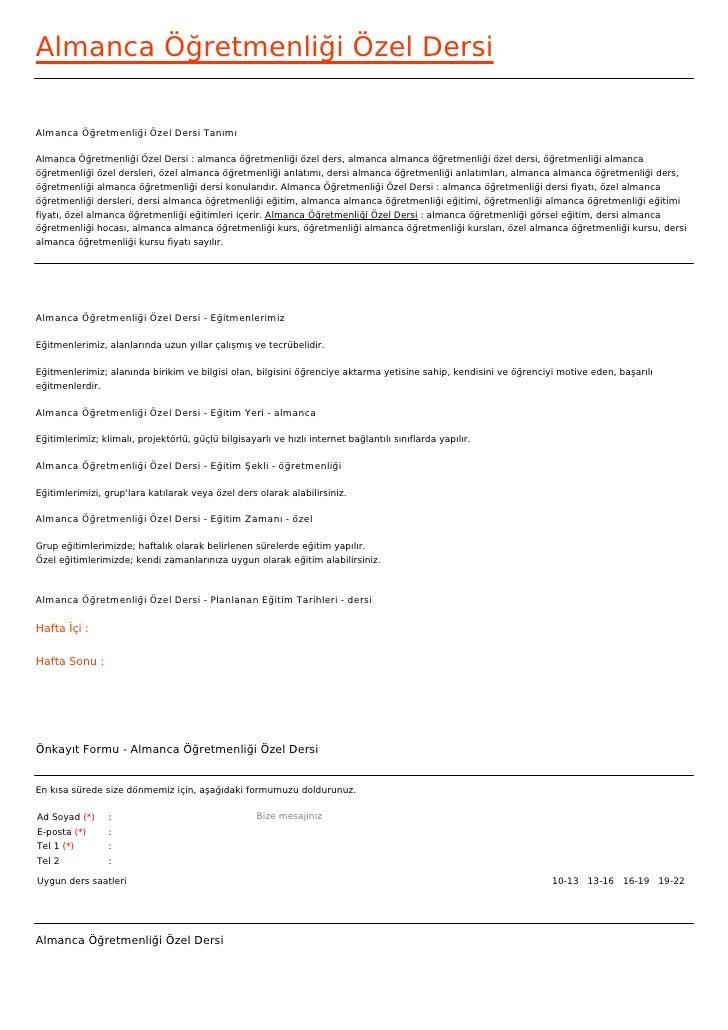 Almanca Öğretmenliği Özel DersiAlmanca Öğretmenliği Özel Dersi TanımıAlmanca Öğretmenliği Özel Dersi : almanca öğretmenliğ...