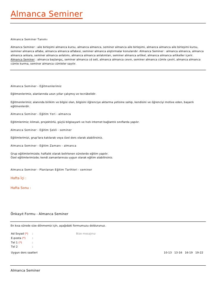 Almanca SeminerAlmanca Seminer TanımıAlmanca Seminer : aile birleşimi almanca kursu, almanca almanca, seminer almanca aile...