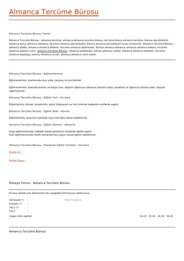 Almanca Tercüme BürosuAlmanca Tercüme Bürosu TanımıAlmanca Tercüme Bürosu : almanca tercüme, almanca almanca tercüme büros...