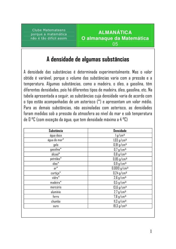 Clube Matemateens     porque a matemática                    ALMANÁTICA     não é tão difícil assim          O almanaque d...