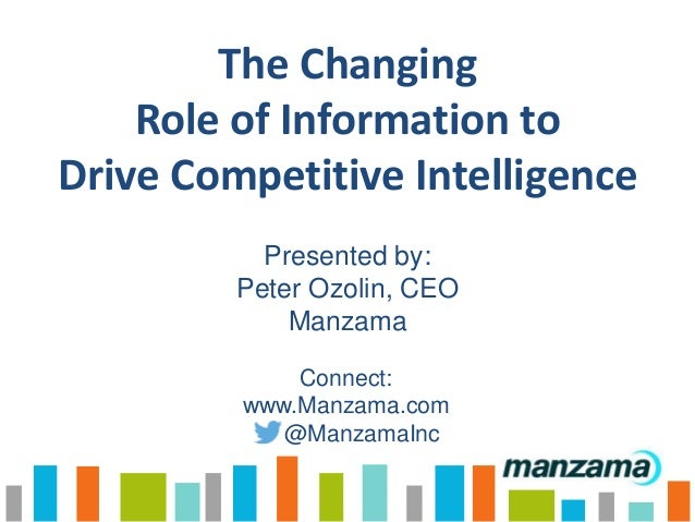 Technology Management Image: The Changing Role Of Information To Drive Competitive