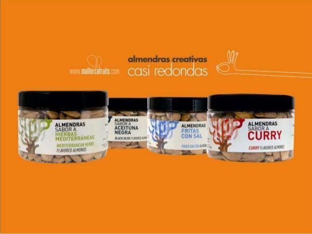 Almendras creativas, casi redondas mallorcafruits.com