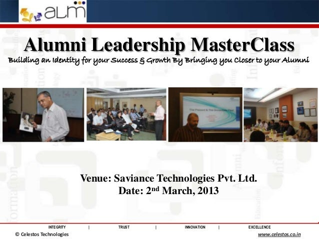 Alumni Leadership MasterClass Building an Identity for your Success & Growth By Bringing you Closer to your Alumni        ...