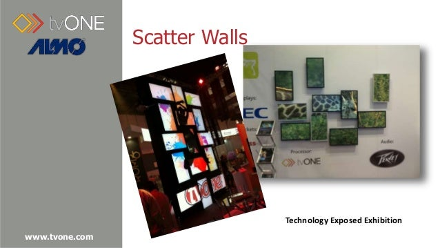 scatter walls technology exposed exhibition - Video Wall Design
