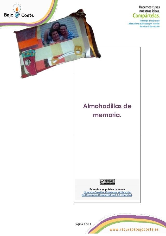 P�gina 1 de 4 P�gina 1 de 4 Almohadillas de memoria. Este obra se publica bajo una Licencia Creative Commons Atribuci�n- N...