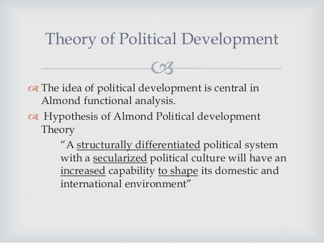 an approach to the analysis of political systems