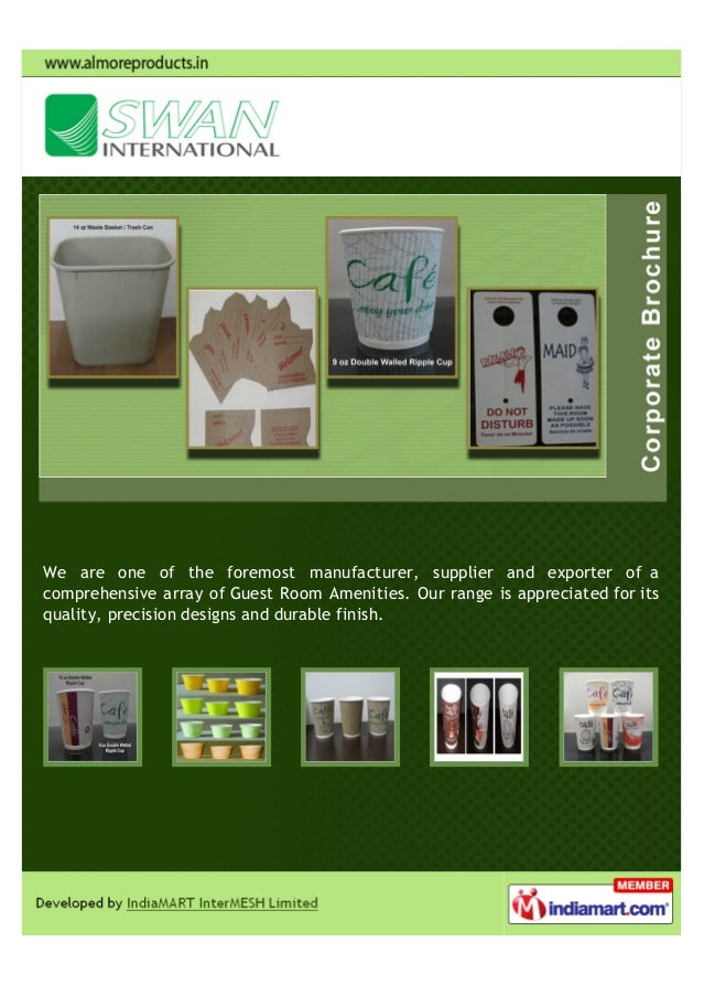 We are one of the foremost manufacturer, supplier and exporter of acomprehensive array of Guest Room Amenities. Our range ...