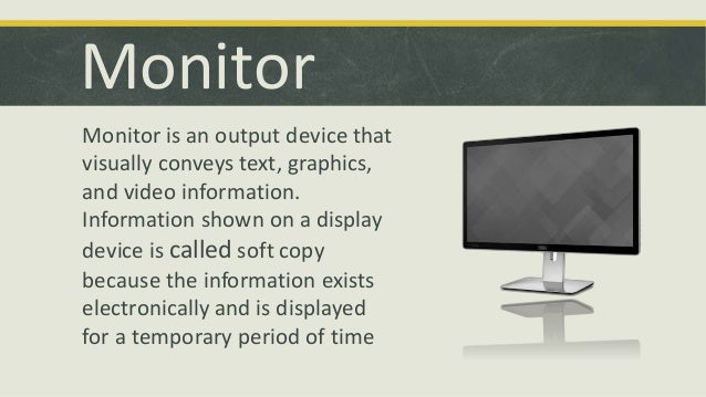 computer output devices information