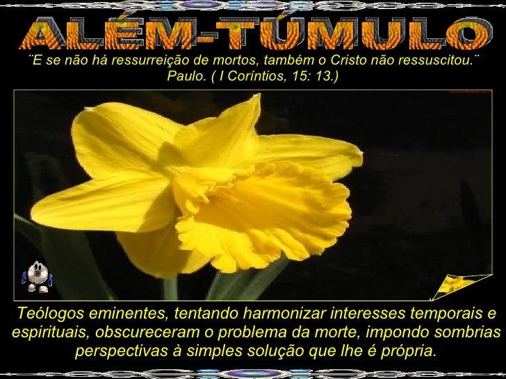 ¨E se não há ressurreição de mortos, também o Cristo não ressuscitou.¨                         Paulo. ( I Coríntios, 15: 1...