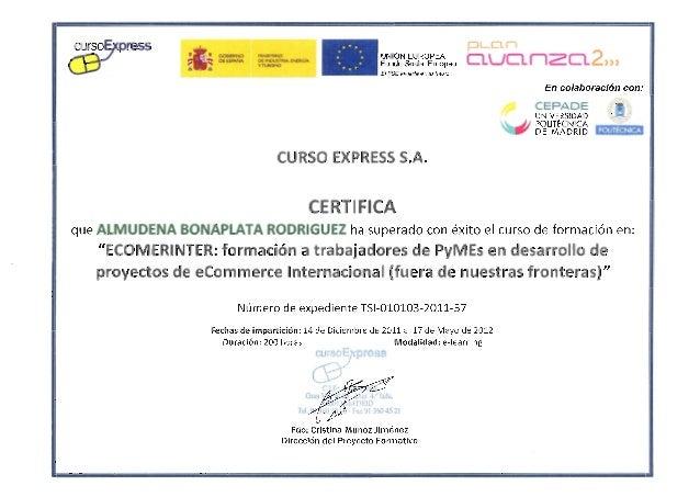 Cepade - Curso e-commerce internacional - 2012 certificado
