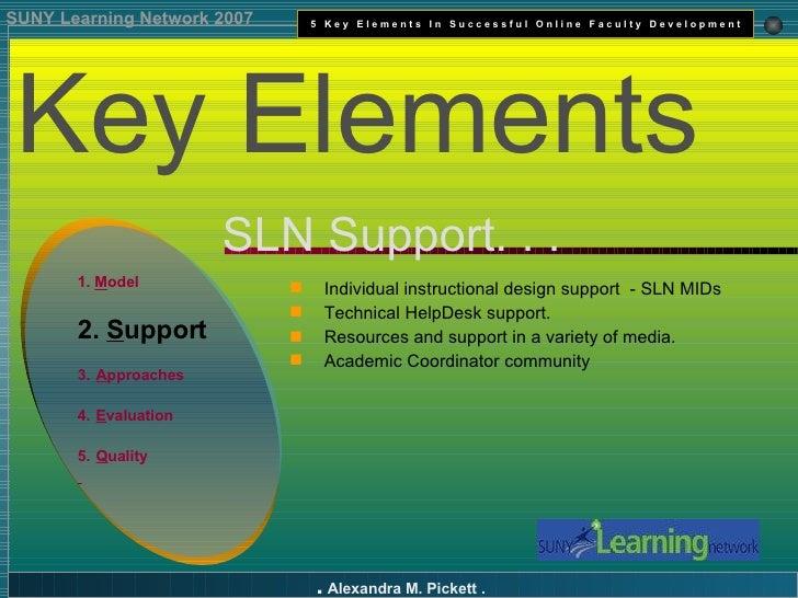 Key Elements In Successful Online Faculty Development