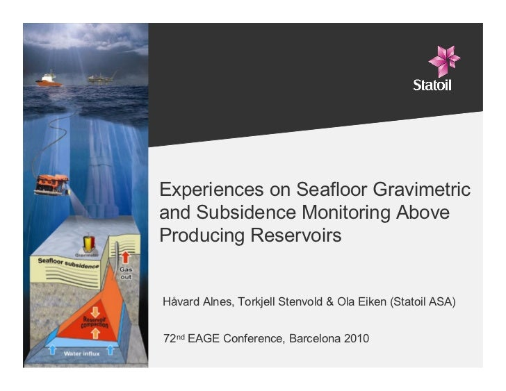 Experiences on Seafloor Gravimetric      and Subsidence Monitoring Above      Producing Reservoirs        Håvard Alnes, To...