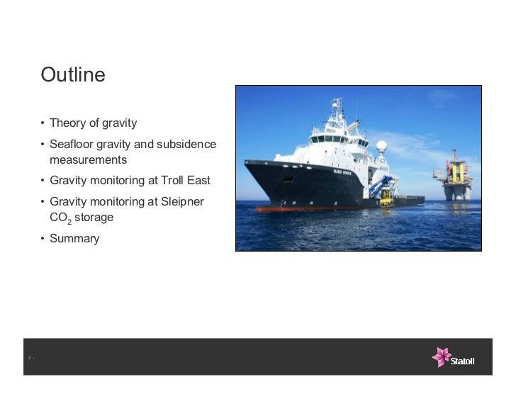Alnes et al gravity and subsidence monitoring Slide 2