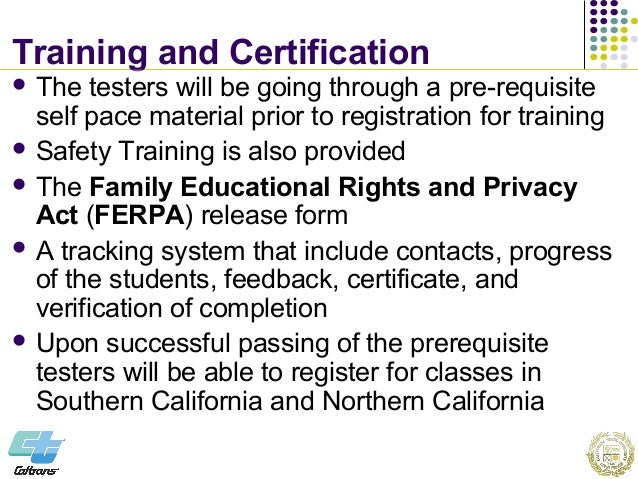 Joint Training & Certification Program For Materials Testers