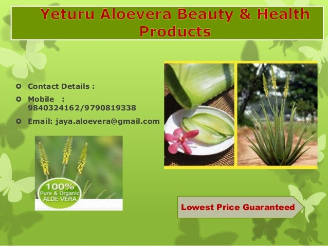  Contact Details :  Mobile : 9840324162/9790819338  Email: jaya.aloevera@gmail.com Lowest Price Guaranteed