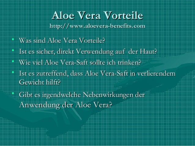 Aloe Vera Vorteile Slide 2