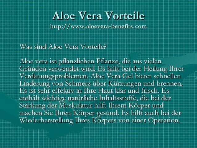 Aloe Vera Vorteile Slide 3