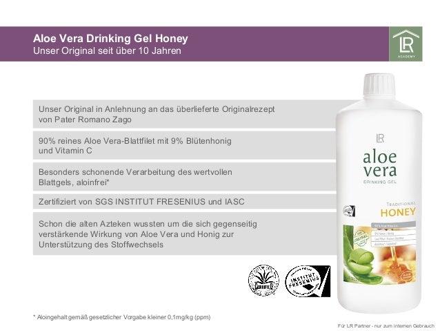 Aloe Vera Drinking Gel Honey Unser Original seit über 10 Jahren * Aloingehalt gemäß gesetzlicher Vorgabe kleiner 0,1mg/kg ...