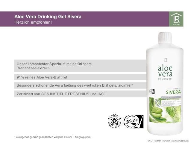 Unser kompetenter Spezialist mit natürlichem Brennnesselextrakt 91% reines Aloe Vera-Blattfilet Besonders schonende Verarb...